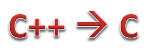 C++ to C conversion
