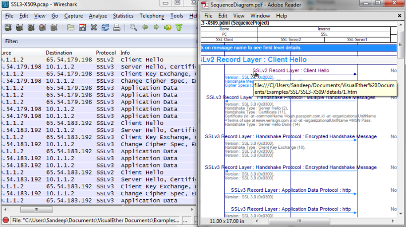 Wireshark to sequence diagrams