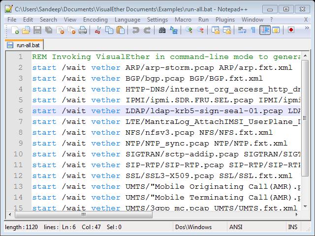 Wireshark to sequence diagram generation script